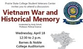 Vietman War and Historical Memory--Prairie State College